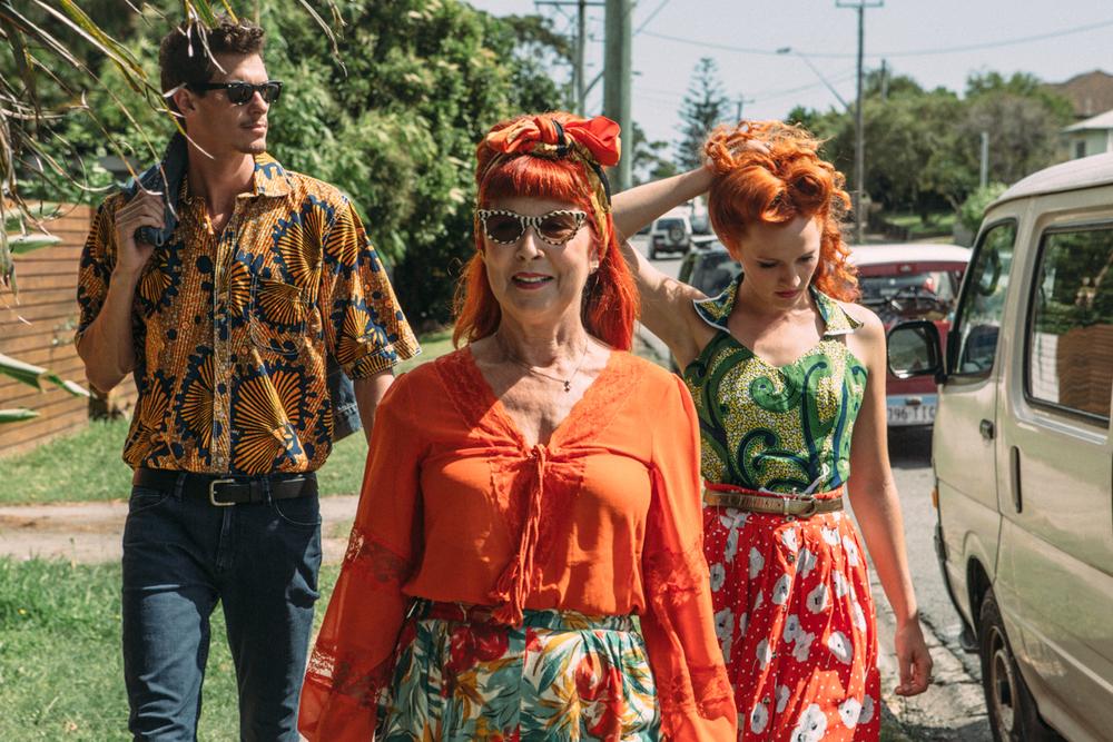 Fashion shoot in Byron Bay - Tarantino style!