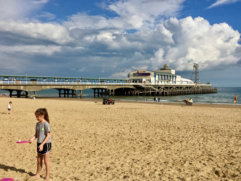 The clouds are moving in over Bournemouth Pier.