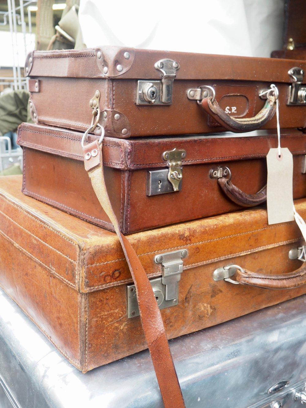 Love a vintage suitcase.