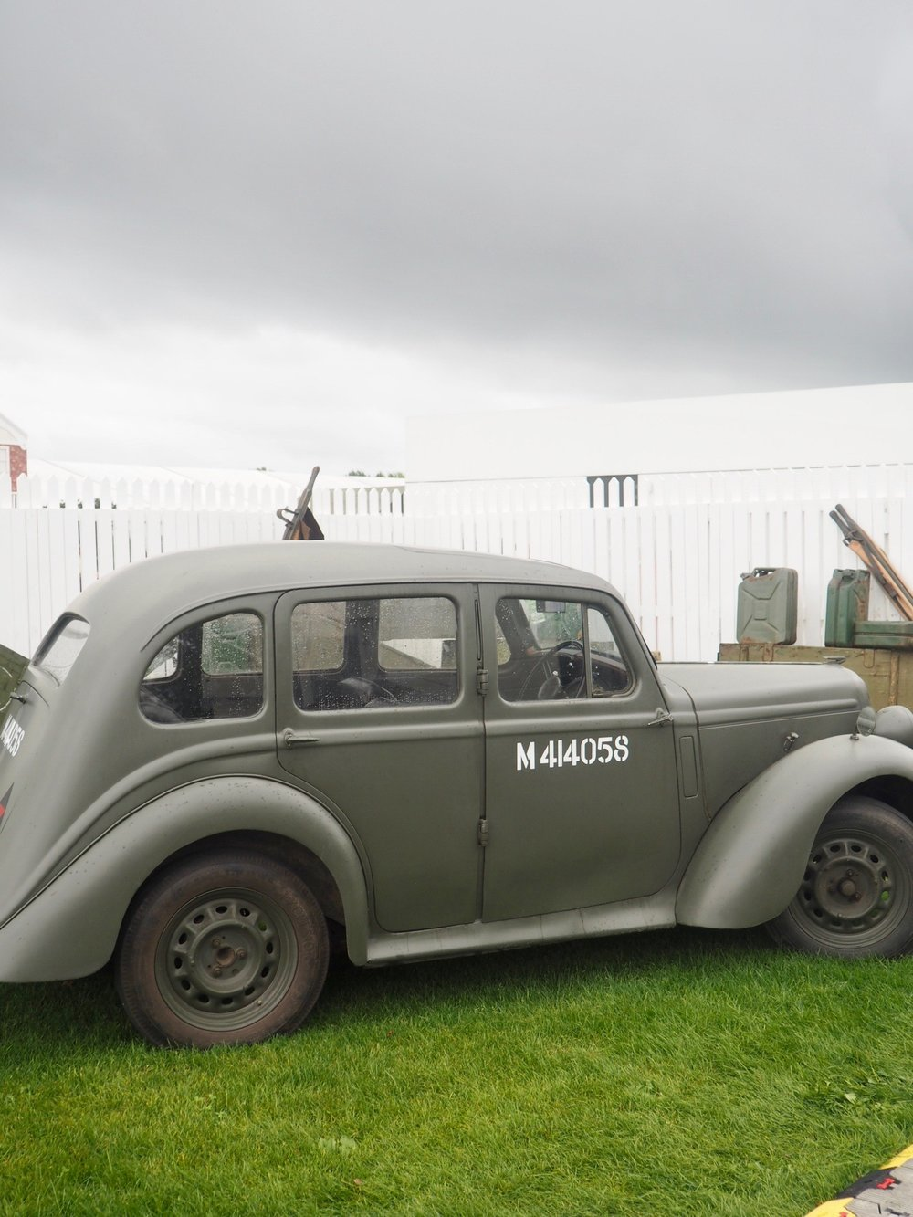 Lovely vintage car at Goodwood Revival. Just look at that sky!