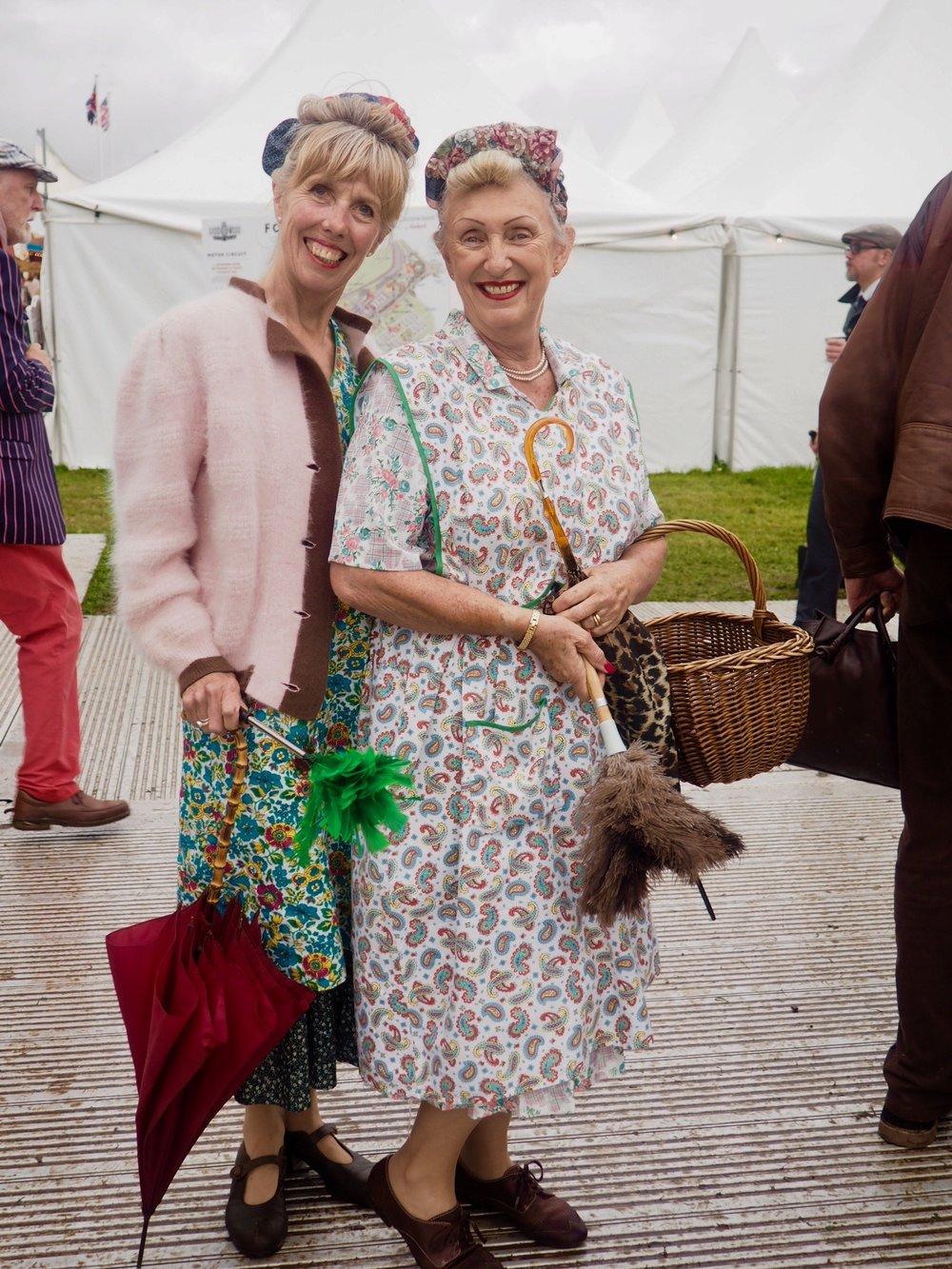 Fabulous ladies at Goodwood Revival