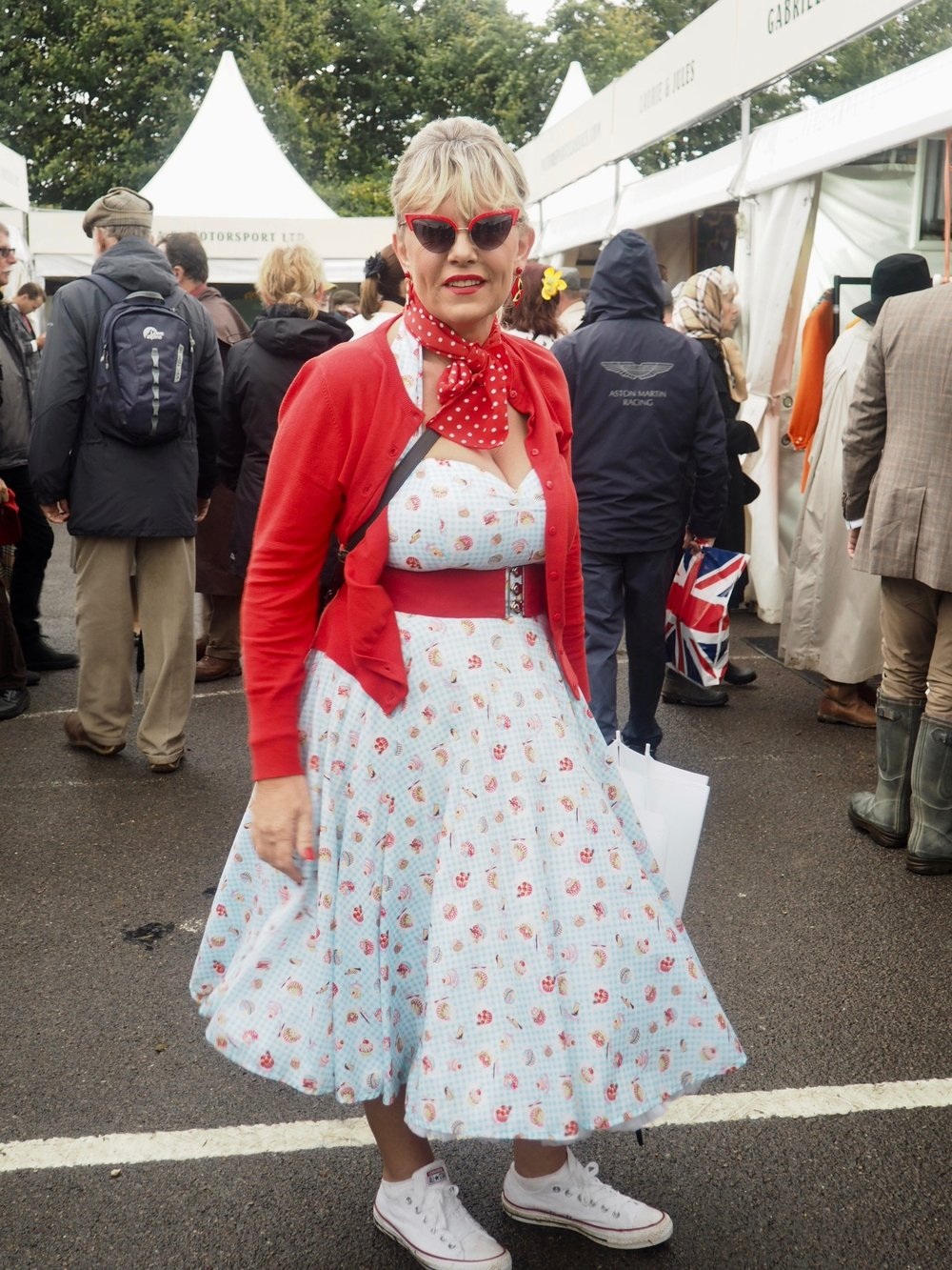 50s look for Goodwood Revival