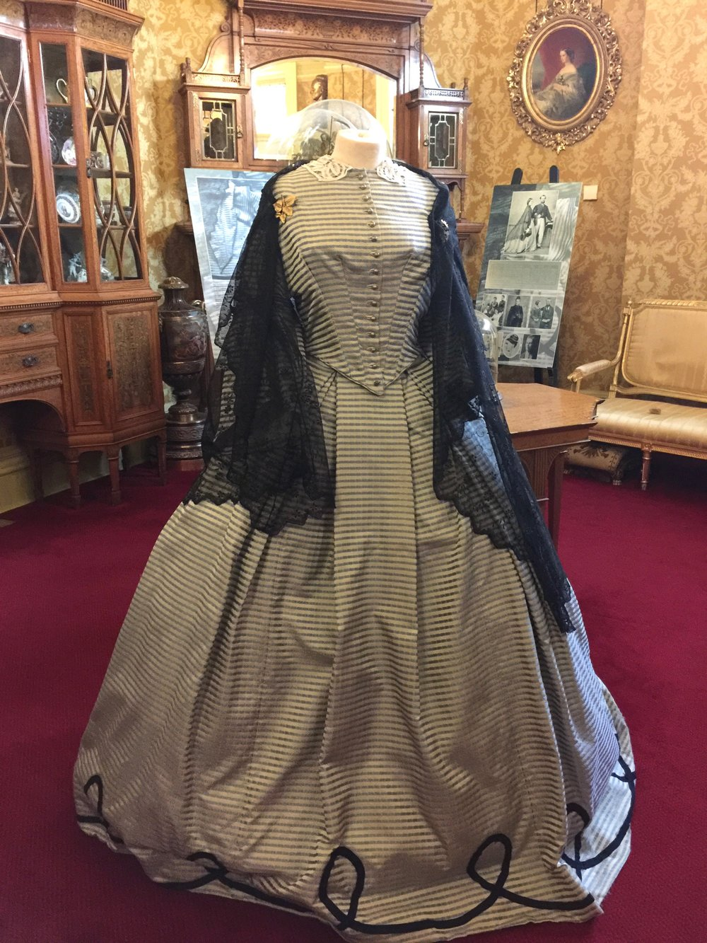 Costumes at the Russell Cotes Museum.