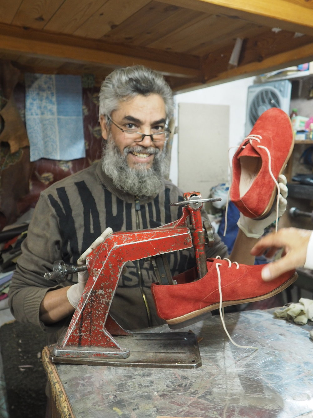 Hand made shoes in Marrakech
