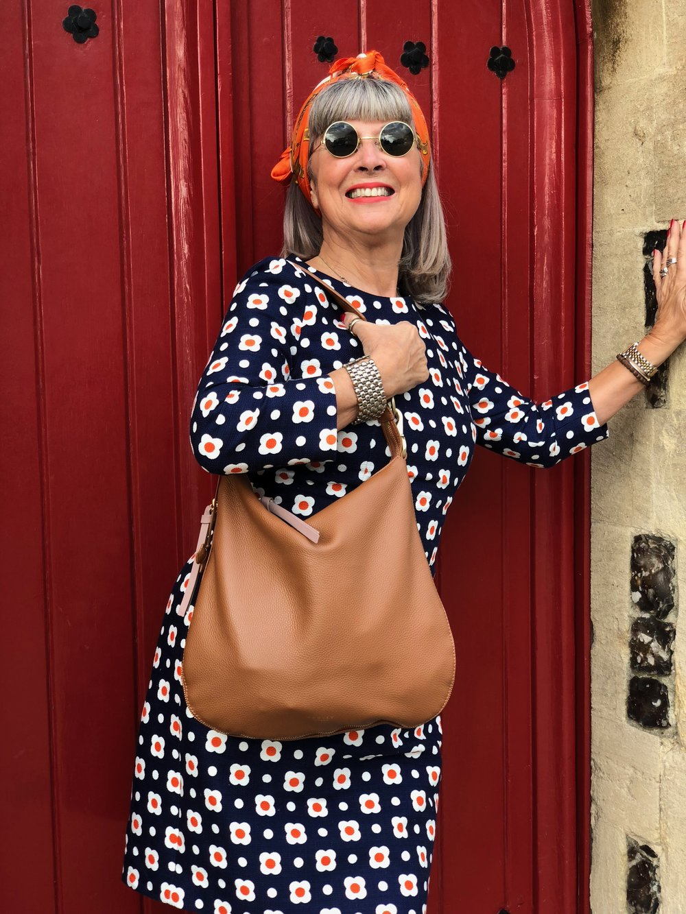 Hobbs dress and Radley bag