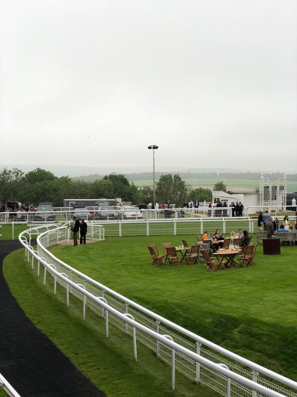Goodwood Races on a misty day