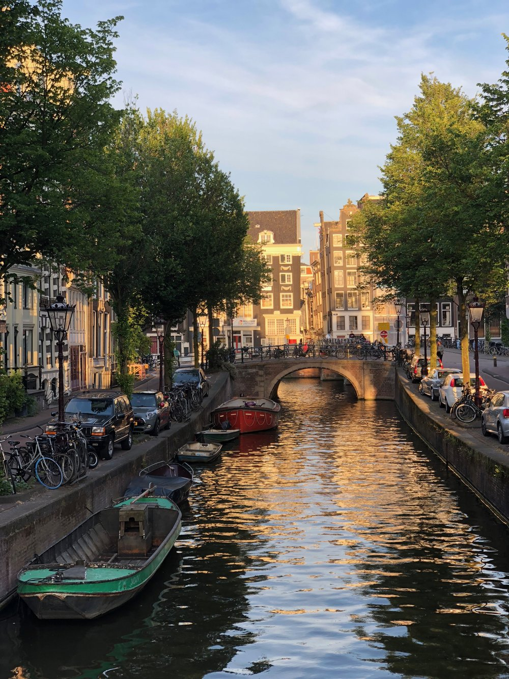 The golden hour in Amsterdam