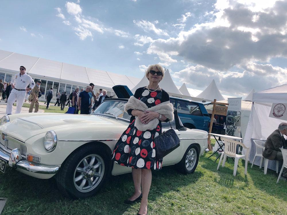 Vintage lady, vintage style, vintage car! Goodwood Revival.