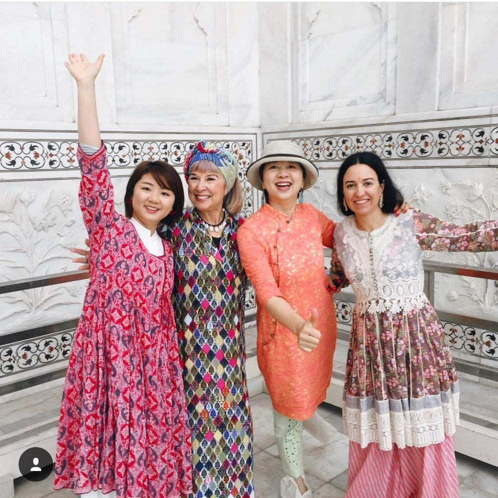 Fashion at the Taj Mahal