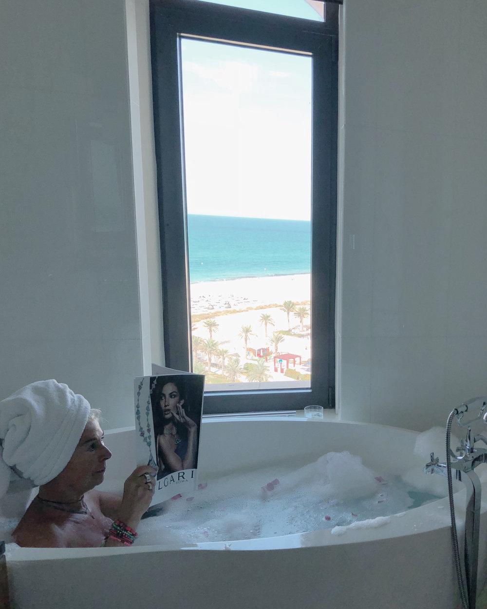 bathroom with a view at the St. Regis, Saadiyat Beach, Abu Dhabi.jpg