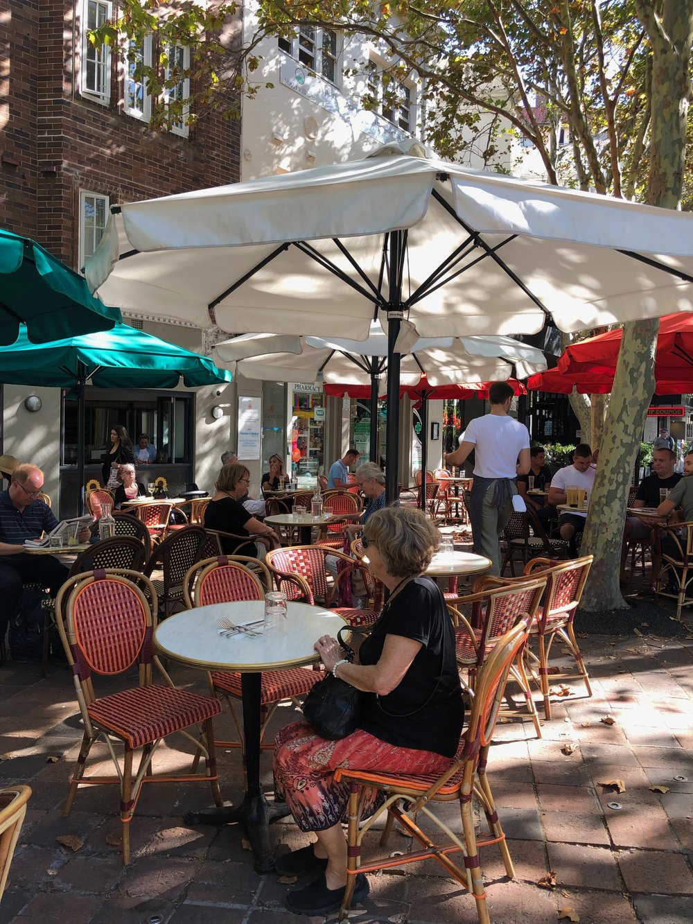 Shady, outdoor cafes all over Sydney