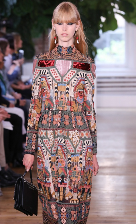 Crazy for Valentino - We're in love with their Resort 18 collection - look at that embroidery - look at that color palette!
