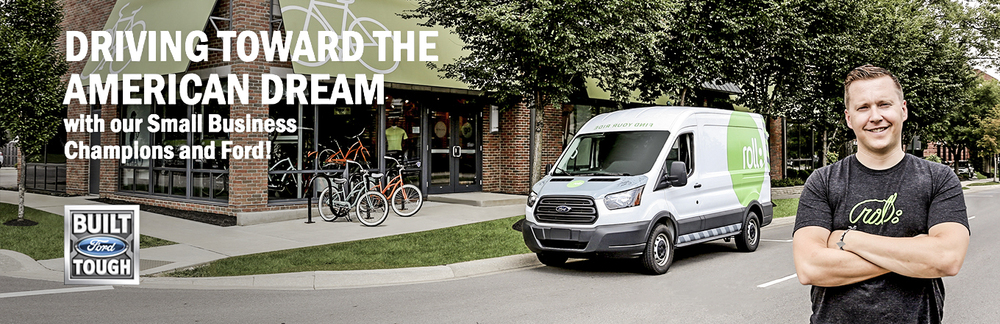 2015 Ford Transit small business champion campaign banners   Photographed on location. Retouched and designed in Photoshop.