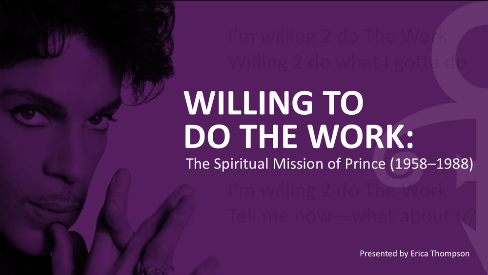 The Spiritual Mission of Prince - Click on the image to download a sample presentation.For full functionality, it should be viewed in Power Point.