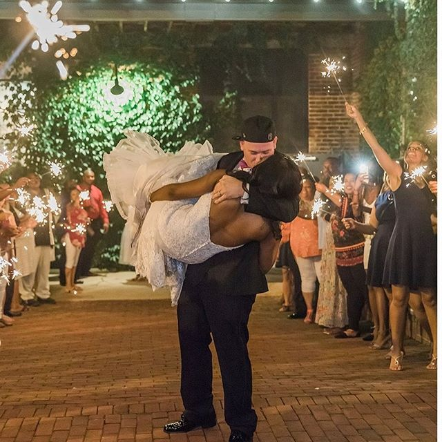 There's nothing like a sparkler send-off after sunset ❤️. A beautiful rustic wedding at the Silk Mill. Photography by @xpression_photography. #poshweddings