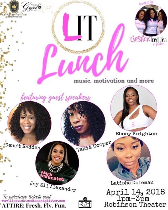 Have you grabbed your tickets to Lipstick, Ice Tea & Glitter's inaugural luncheon?
