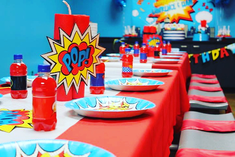 A super-hero themed party for our favorite twins @SkyZone Richmond.