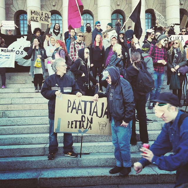 Vaaleja odotellessa. More punk for parliament.  #throwback #pkn #thepunksyndrome #päättäjäonpettäjä #vaalit #punk for #parliament