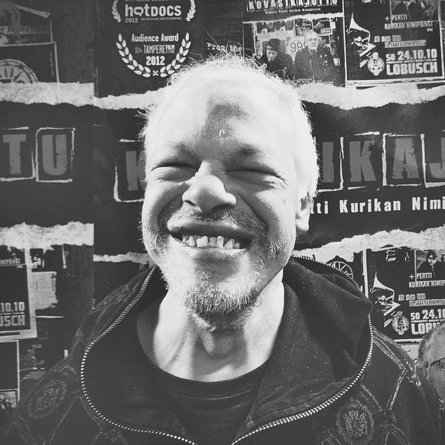 Happy Kari. Here is our instagram.  Ilonen Kari. Tässä on meidän instagrami. Let's go punk on!  #pkn #esc2015 #thepunksyndrome #kovasikajuttu #finland #kallio #punk