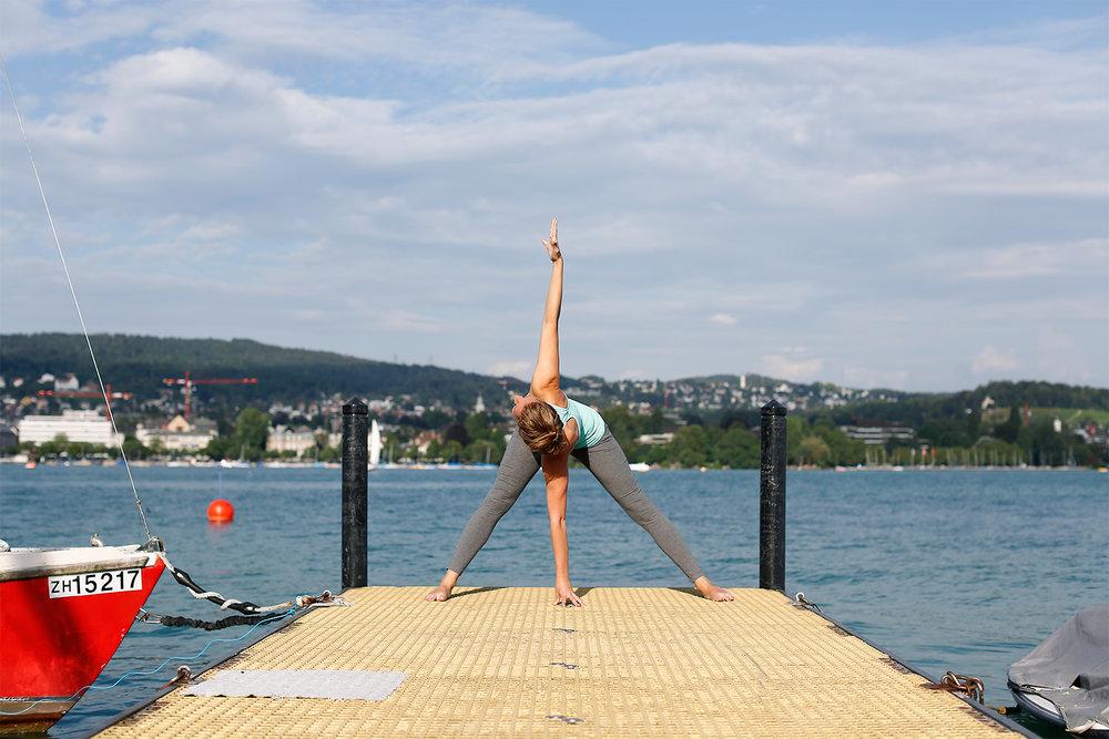 Camilla en Zurich Lake