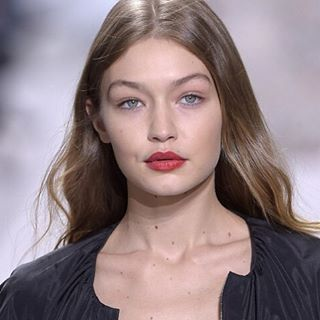 Loving this look from Giambattista Valli. Fresh healthy skin! #richgirlskin #welcometothesisterhood #gigihadid