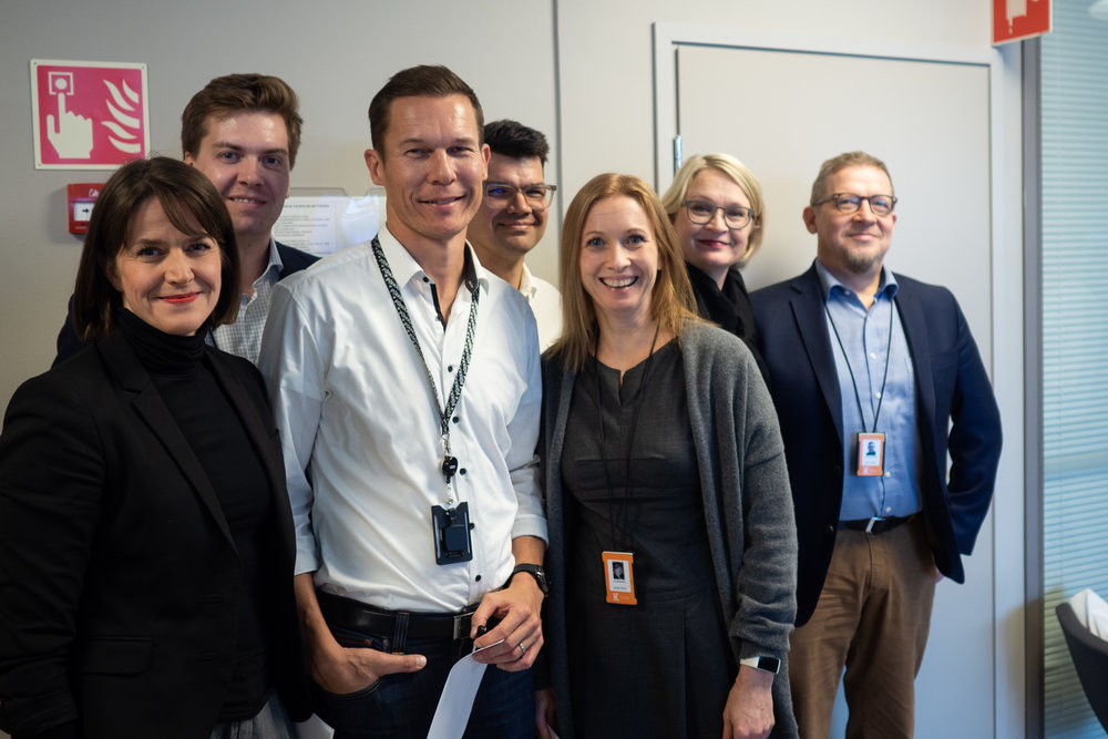 The Jury by K Group & friends (from left): Piia Maaranen (Avanto), Antti Rajala, Tuomas Sointu, Tuomas Manninen (OP), Miia Ropponen, Anni Ronkainen, JP Suonikko.