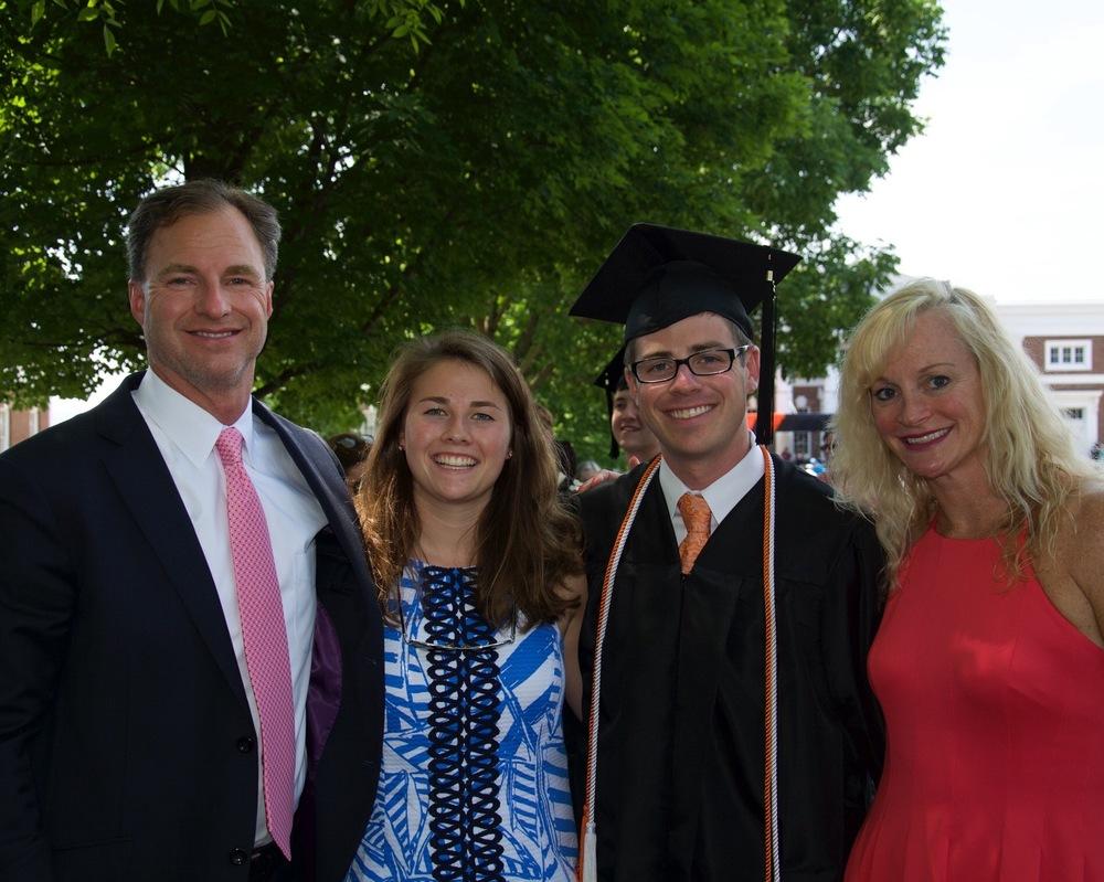Brooks's UVA Graduation Weekend - May 2015  Eric Braun, Macy Mears, Brooks Mears, and Erika Braun
