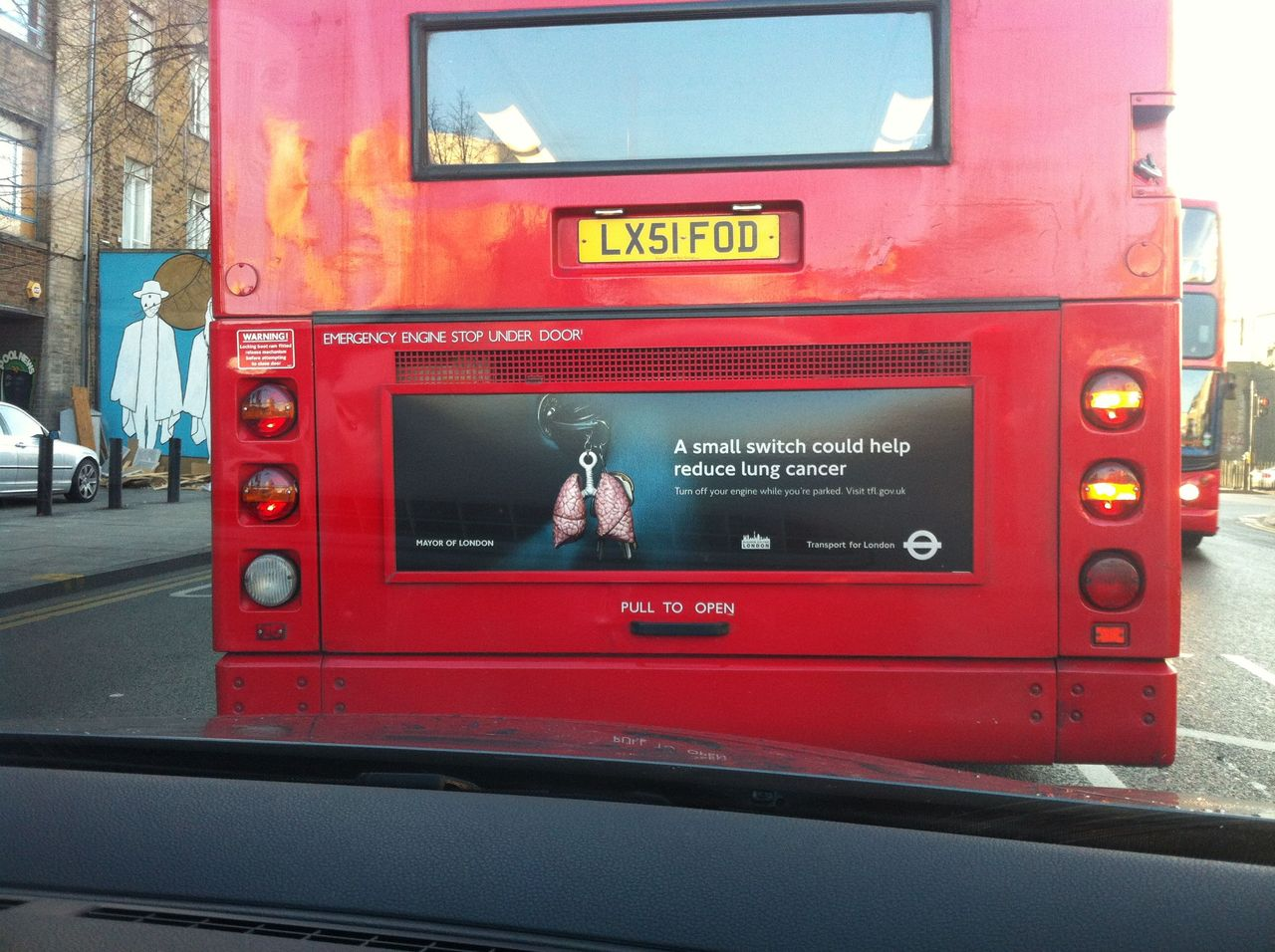 I always manage to spots my images on my drive into work. This one for M and C Saatchi was created earlier in the year ( 1 of 3 )