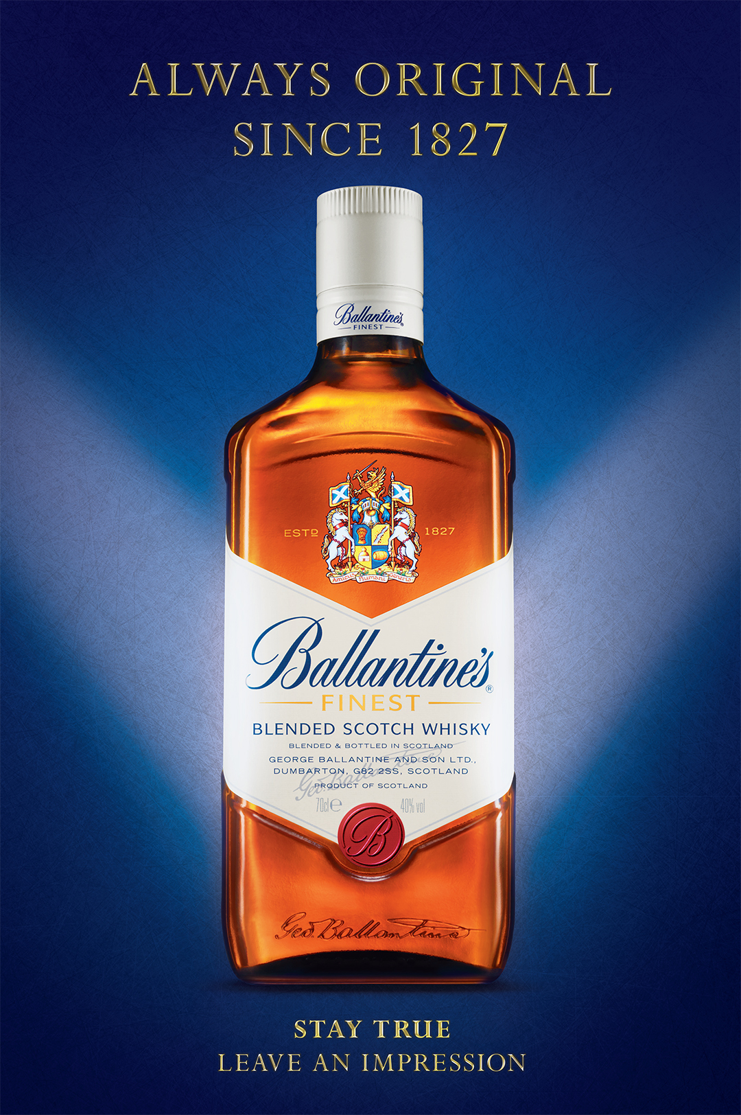 Client : Ballantines Agency : M and C Saatchi Art Director : Bill Gallacher Really nice project, working to pull out all the qualities of the bottle. Producing the background and layering it all together in the retouch.