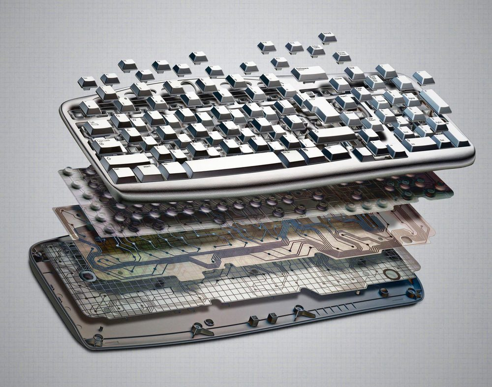 Exploded Keyboard
