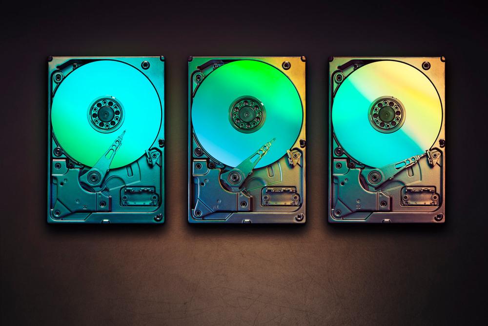 3 hard drives