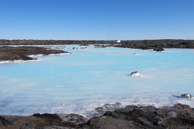 Utenfor den blå lagune.