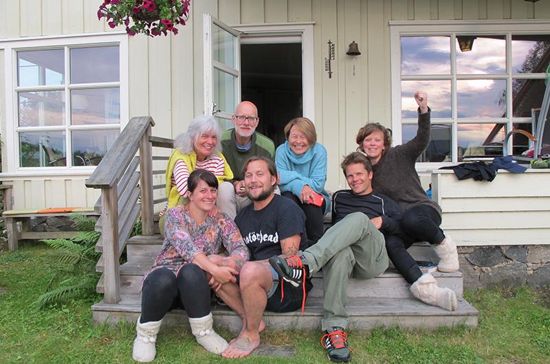 Familie + ekstra familien = god stemning!