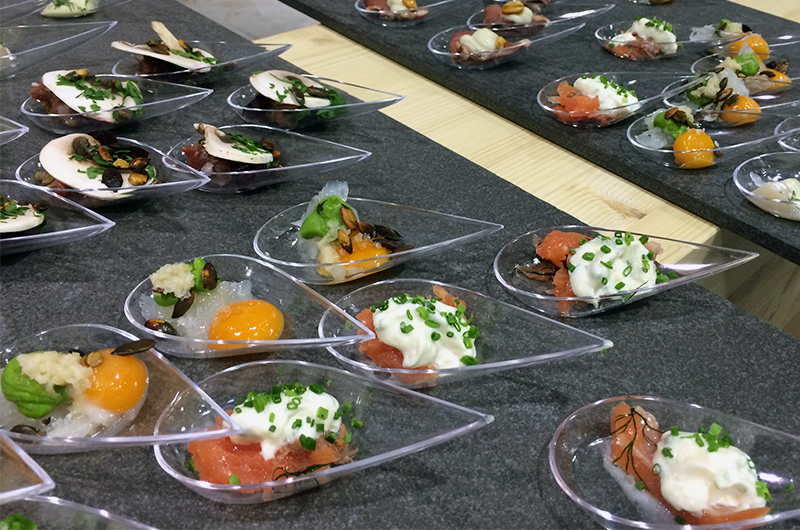 Veldig god frokost servert av  Vaaghals  resturant på pressefrokost for  Gave- og interiørmessen .