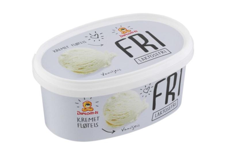 Endelig en skikkelig god laktosefri vaniljeis! Denne er tilgjengelig i vanlige dagligvare foretninger. Bildet lånt fra Diplom-is.