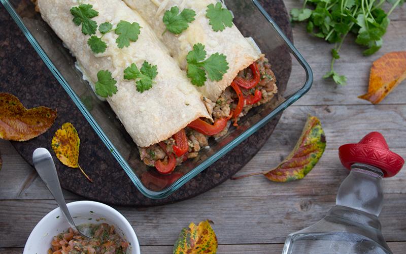 Magevennlige Enchiladas på lørdag -Oppskrift kommer i løpet av uka. Foto: Magevennlig mat ved Julia Edin