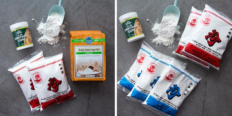 Melblandingene er tilbake i en litt annen form. Nå er begge pakkene tilpasset til totalt 5 kg ferdig melblanding. Forskjellen mellom de to er hvitt eller brunt rismel. Trykk på bildet for å komme til produktene.