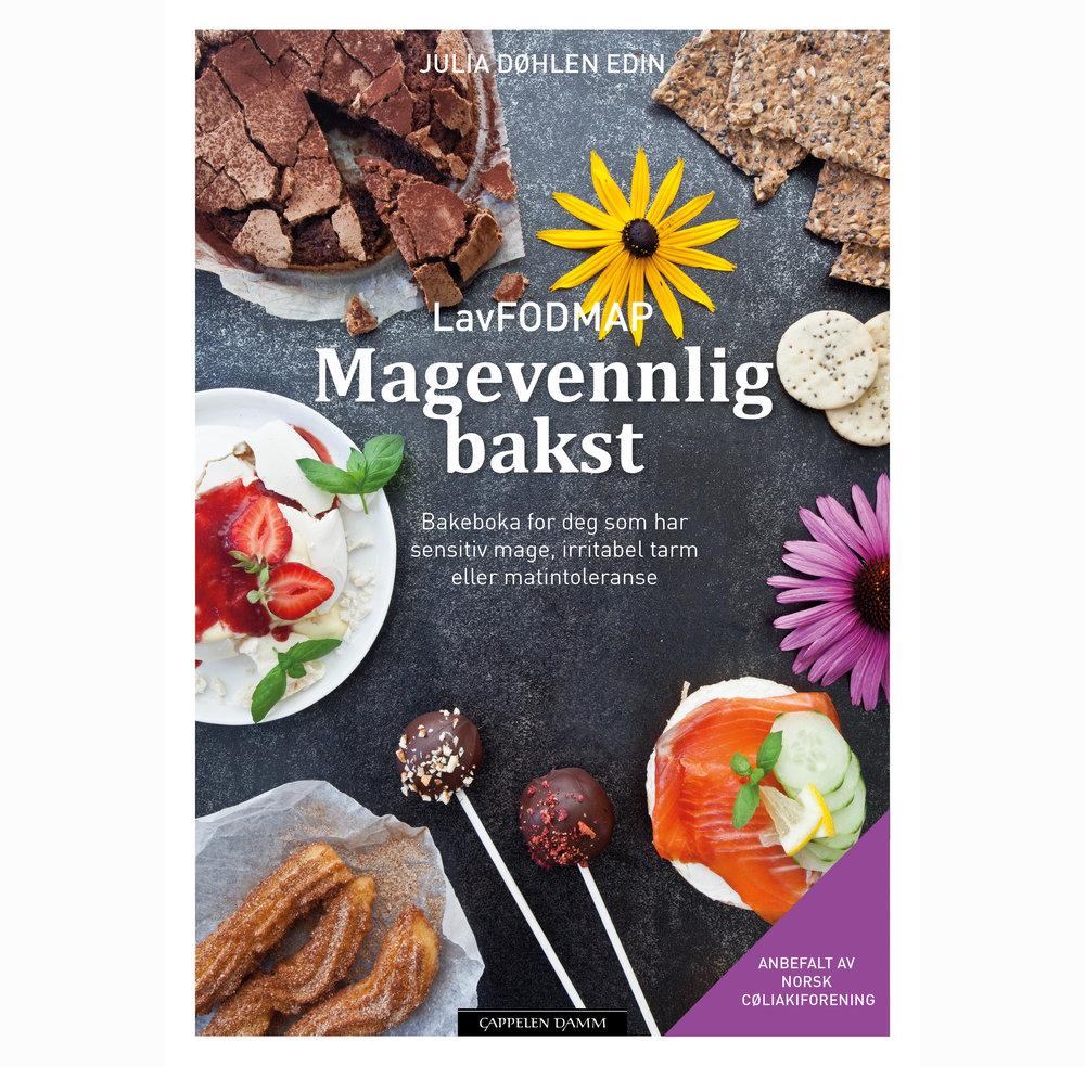 Kjøp Magevennlig bakst her!    LavFODMAP - Magevennlig bakst  Boken med 72 glutenfrie, laktosefrie og lavFODMAP oppskrifter på kaker, søt bakst og salt bakst.