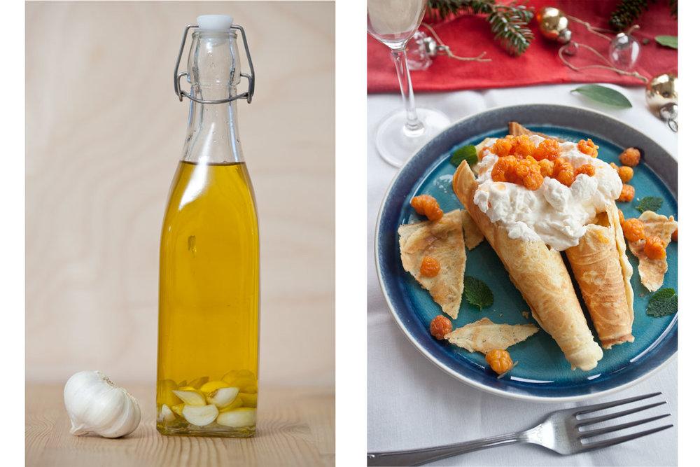 Lag hvitløksolje som du bruker i maten i stedet for hvitløk og bruk laktosefri fløte i multekremen - da blir det litt lettere for magen!
