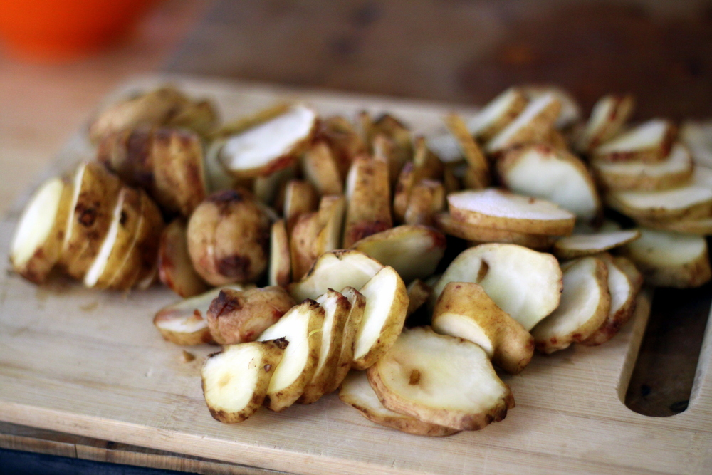 sliced sunchokes