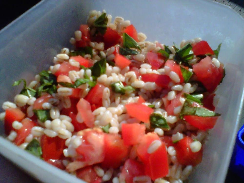 tomato barley in dish