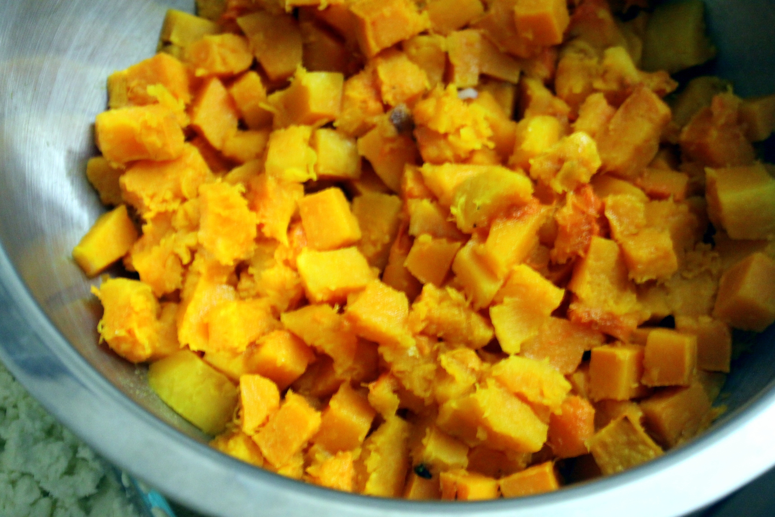 cubed winter squash