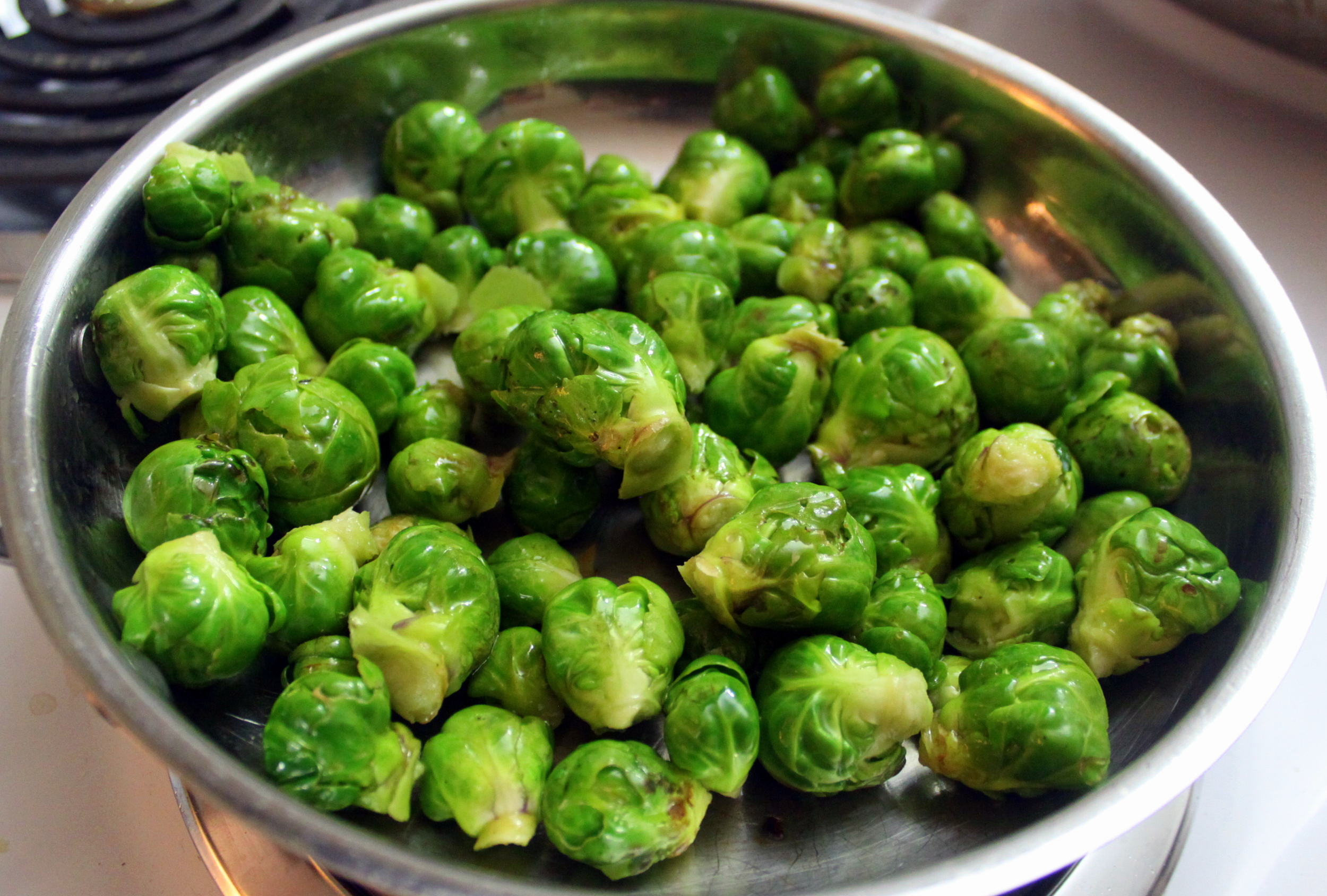 With a quick saute,  Brussel sprouts are a great last minute side.
