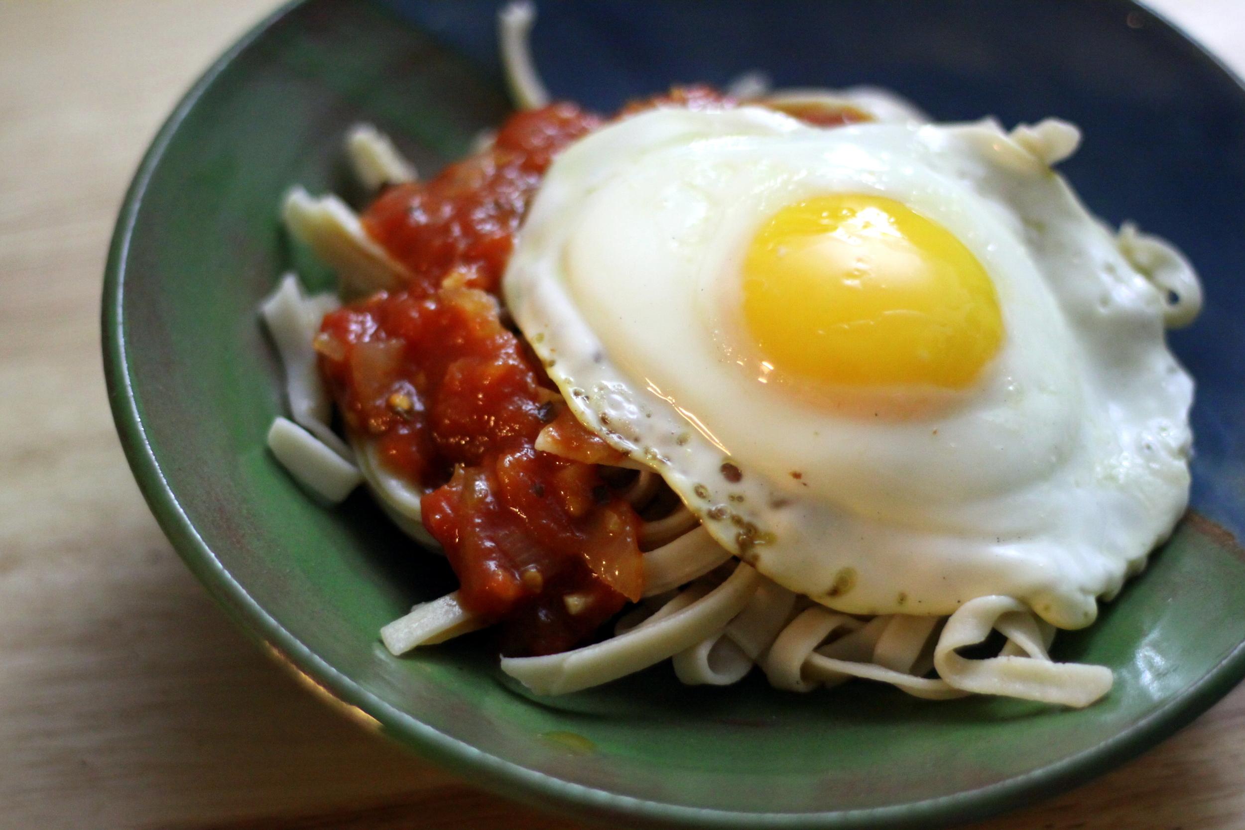 egg on pasta
