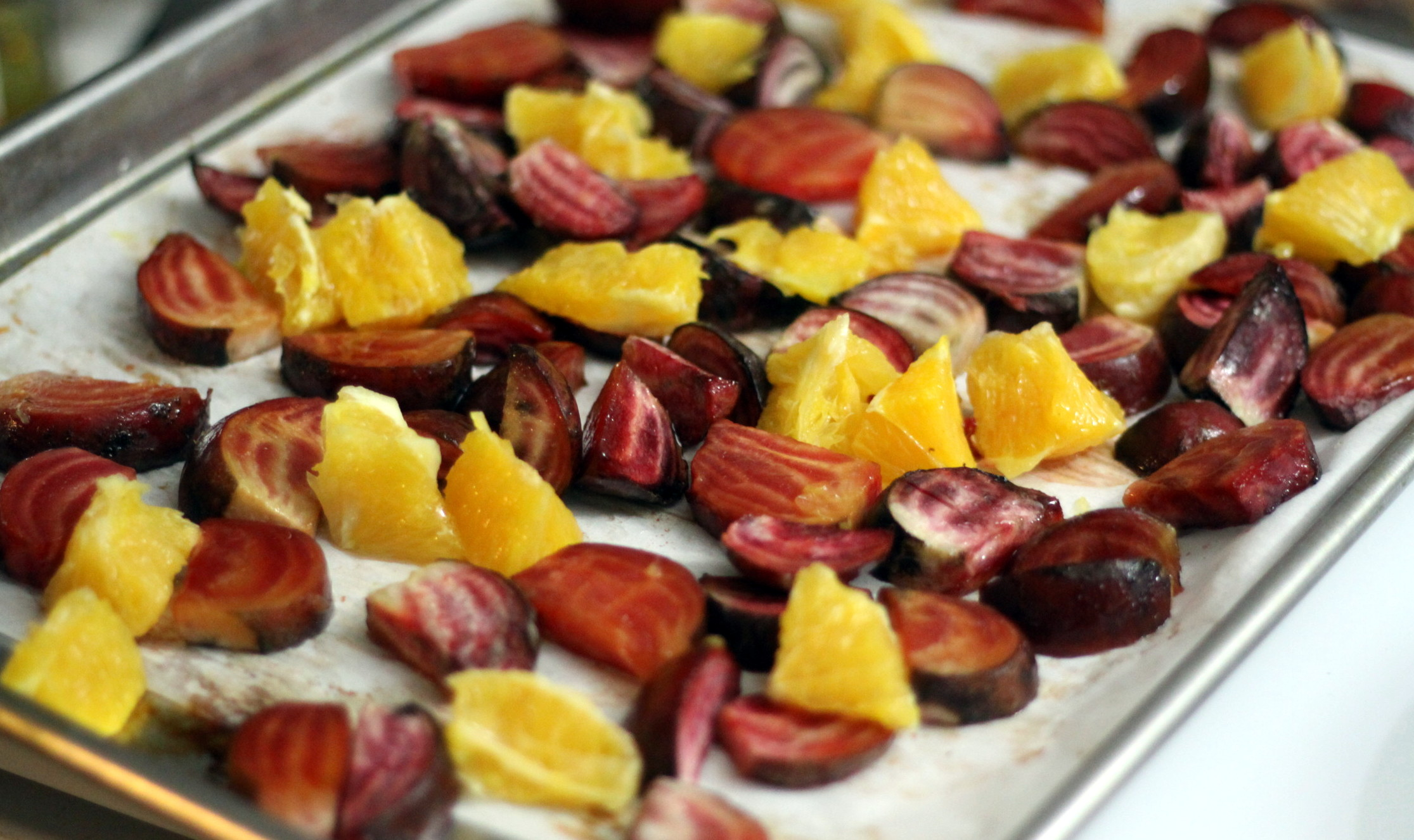 roasted beets and oranges