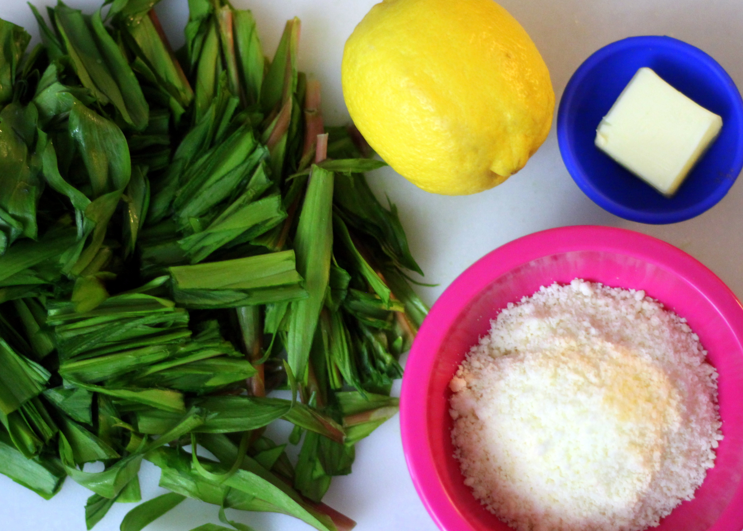 ramps, lemon, Parmesan and butter