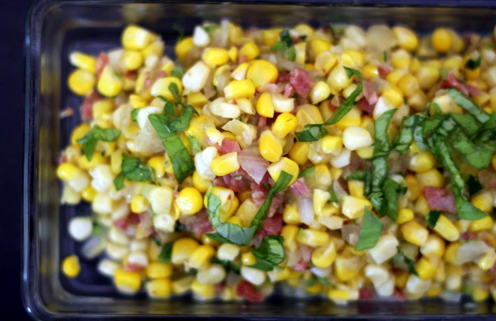 corn and bacon saute