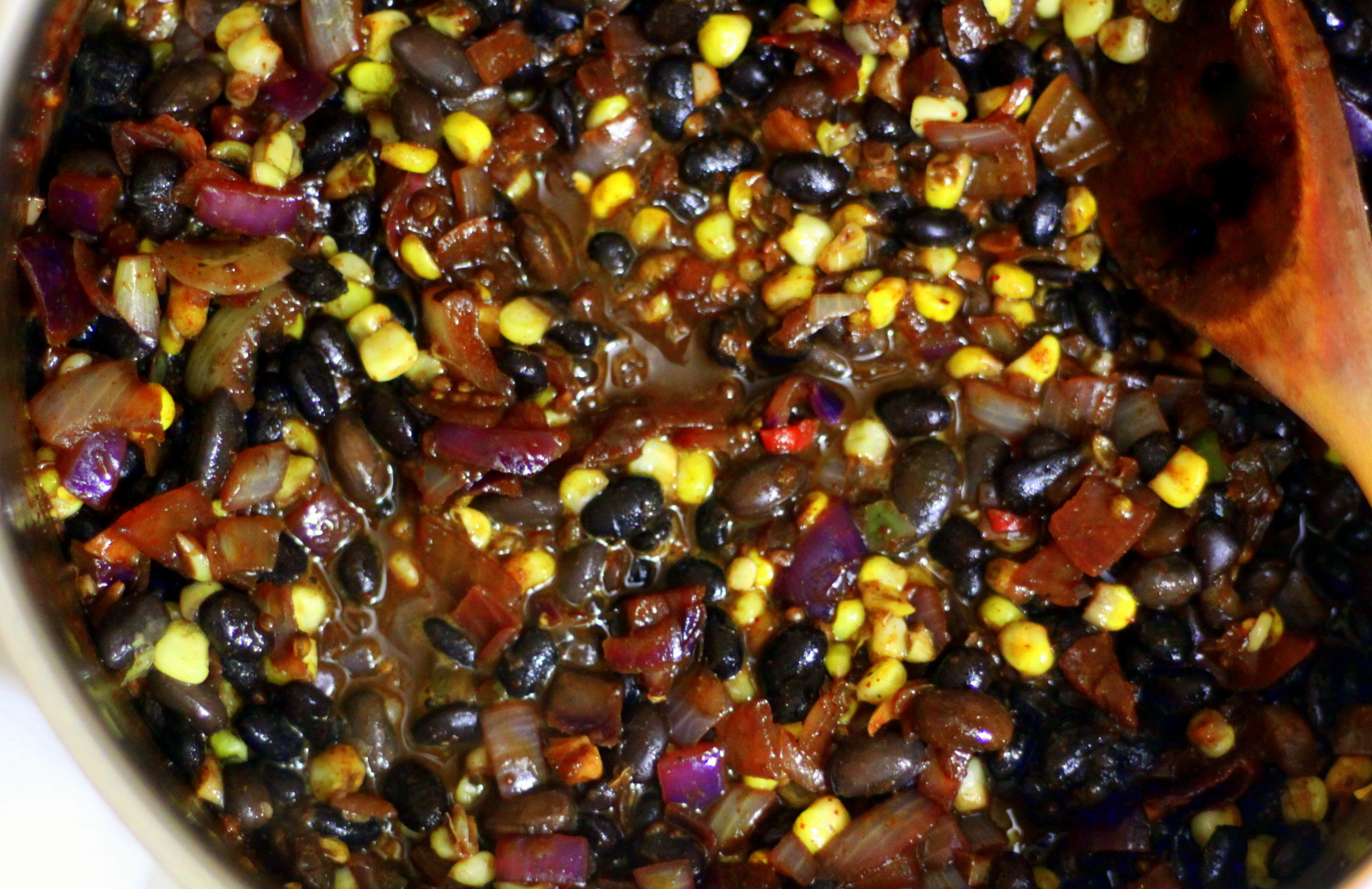 corn black bean and squash