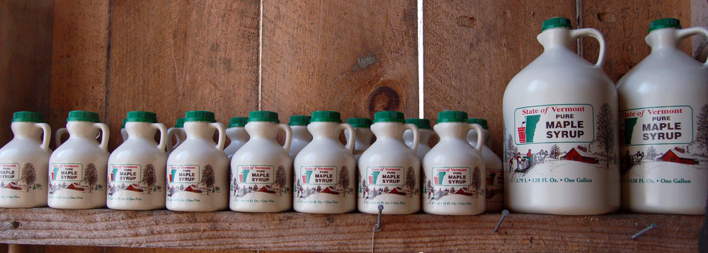 maple syrup jugs. photo by elena gustavson