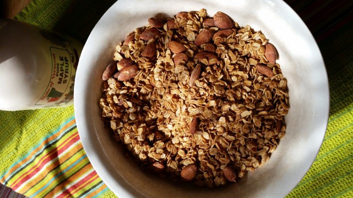 Maple Cinnamon Granola - delicious and nutritious! Photo Courtesy of Elena Gustavson
